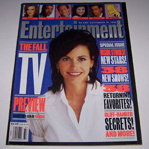 courtney cox - friends - entertainment weekly 1995